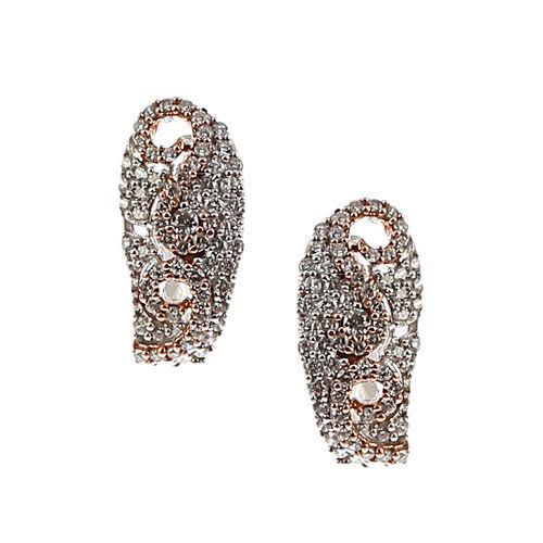 K&A Jewellery 14Kt Gold Diamond Hoop Earrings