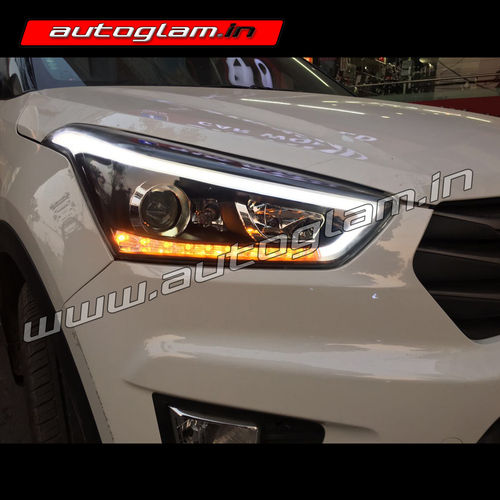 Hyundai Creta Audi Styl Drl Projector Headlights