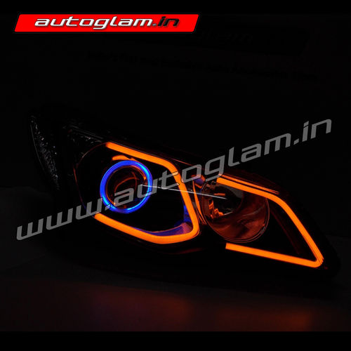 honda civic merc style projector headlights hid aghc906r autoglam. Black Bedroom Furniture Sets. Home Design Ideas