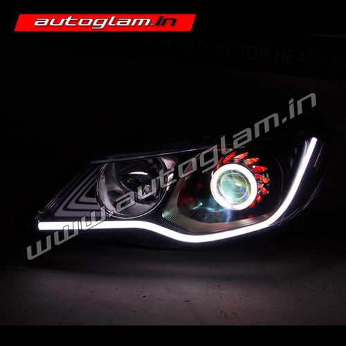 honda civic merc style projector headlights hid ag903 autoglam. Black Bedroom Furniture Sets. Home Design Ideas