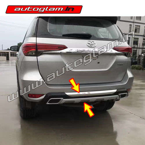 toyota fortuner 2016 rear bumper diffuser autoglam. Black Bedroom Furniture Sets. Home Design Ideas