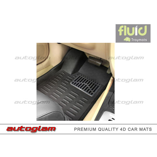 Aghj4dm301 Fluid Premium 4d Mats For Honda Jazz Black Color