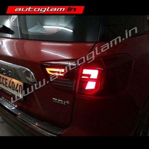 maruti suzuk breeza audi style led taillights aftermarket agmsbt630 autoglam. Black Bedroom Furniture Sets. Home Design Ideas