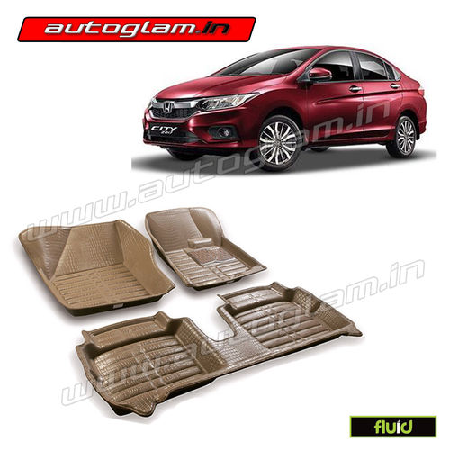Marvelous AGHC5BG, 5D MATS FOR HONDA CITY ALL MODELS, Color   BLACK, High Quality