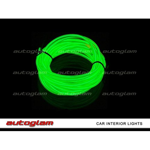 agil09 led el wire neon light 5m glow rope tube for car interior color green. Black Bedroom Furniture Sets. Home Design Ideas