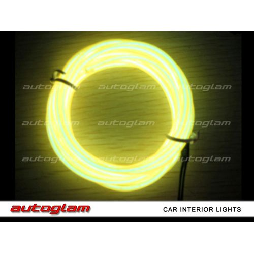 agil06 led el wire neon light 5m glow rope tube for car interior color yellow. Black Bedroom Furniture Sets. Home Design Ideas