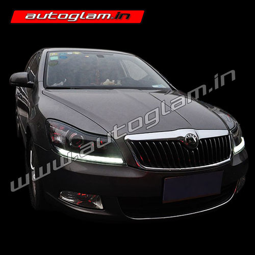skoda laura 2009 13 projector headlight custom lights agsl920hl autoglam. Black Bedroom Furniture Sets. Home Design Ideas