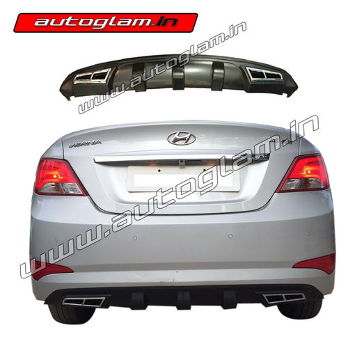 AGFVRD650 Hyundai Fluidic Verna 4S 2015 Rear Bumper Diffuser Chrome Exhaust Tip