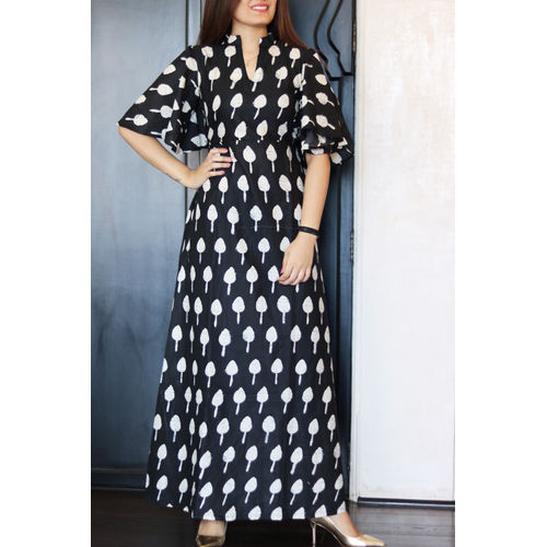 Black Bell Sleeves Maxi