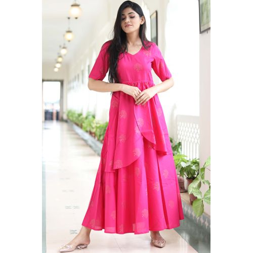 Pink GB Double Layer Dress