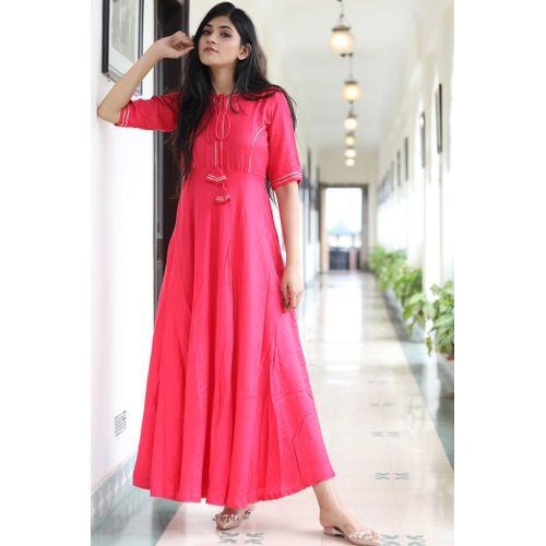 Pink Gotta Detail Dress