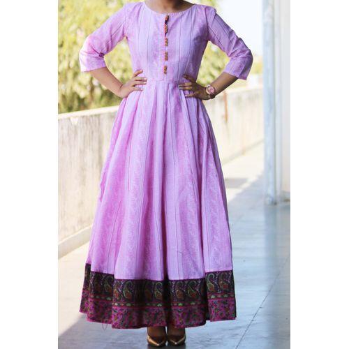Pink Chanderi Maxi