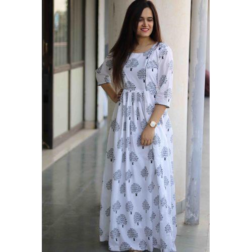 White Tree Block Dress
