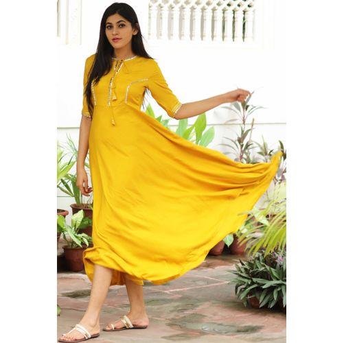 Yellow Gotta Detail Dress