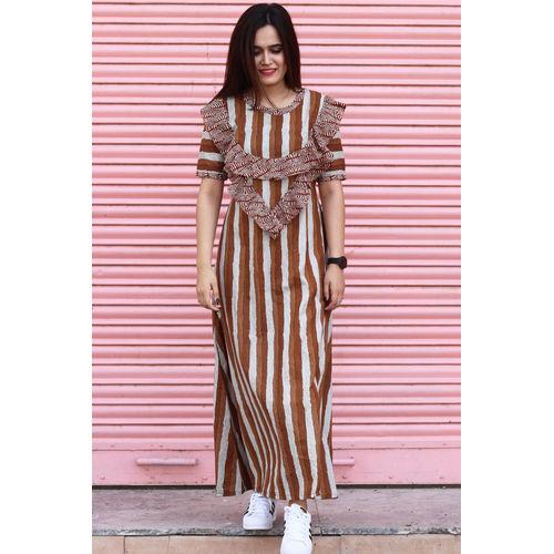 Lines and Frills Maxi Dress
