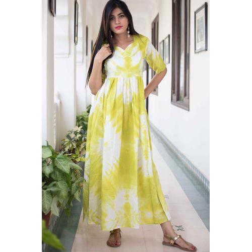 Lemon TieDye Dress