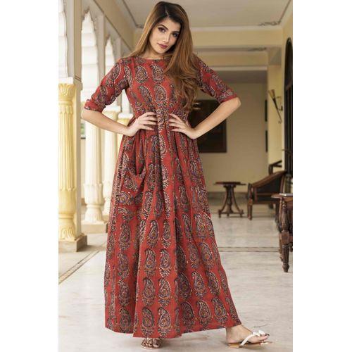 Dabu Print Maxi Dress