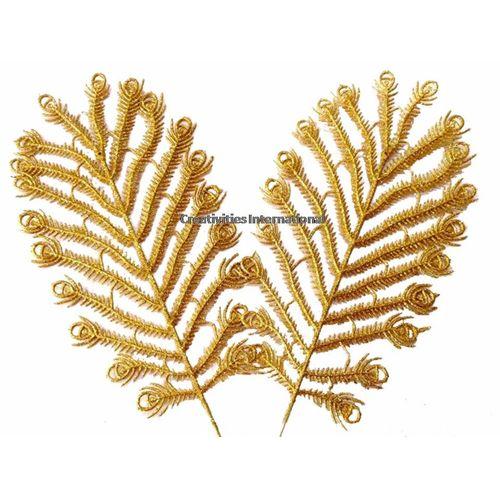 GOLDEN MULTI SHAPE GLITTER LEAVES