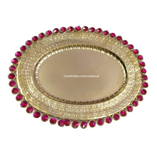 OVAL PINK BEADS DRY FRUIT PLATTER
