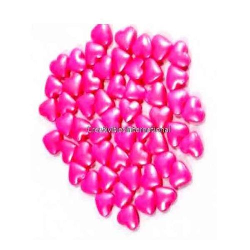 Pink Glimmer Sugar Hearts (1mm)