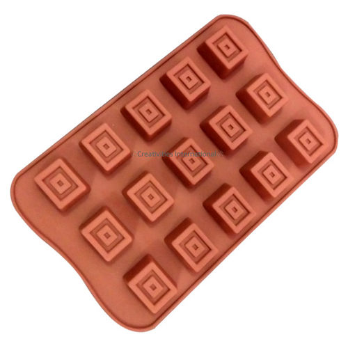 Designer square Chocolate mould