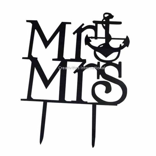 Mr. & Mrs  Cake Toppers 1