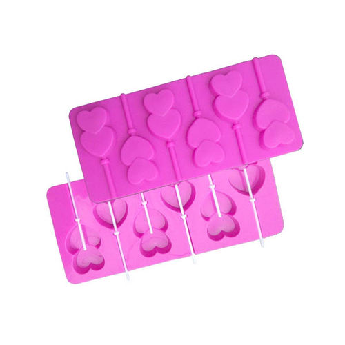 LOLLYPOP DOUBLE HEART CHOCOLATE MOULD
