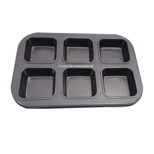 Nonstick 6 Cavity Brownie Squares Baking Mould