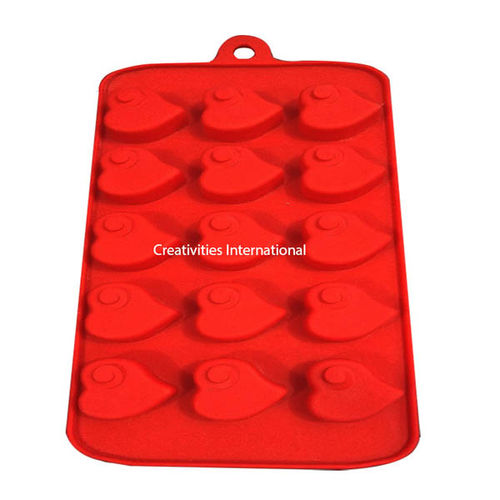 Heart Shape Swirl Chocolate Mould