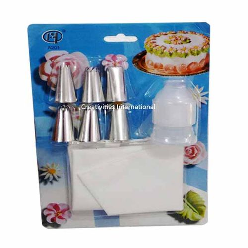Set of nozzels and coupler with piping bag (Big)