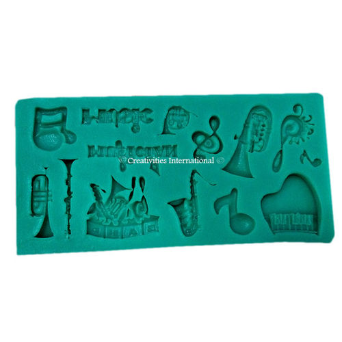 Musical Instrument Fondant Mould