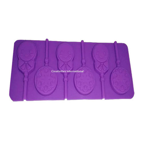 Smiley With Flower Candy Mould -1