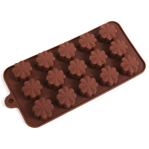 Flower Shape brown chocolate mould