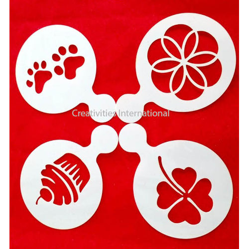 Cupcake & Flower Theme Stencil
