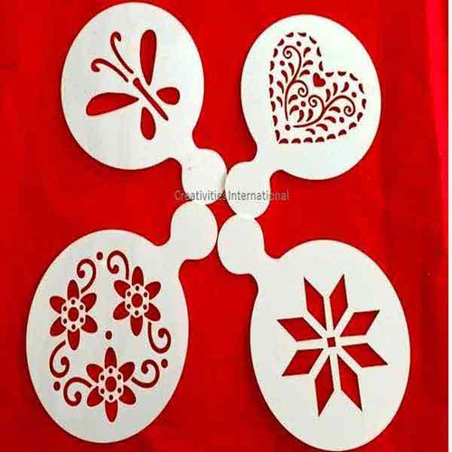 Multiflower Design 4 in 1 Stencil