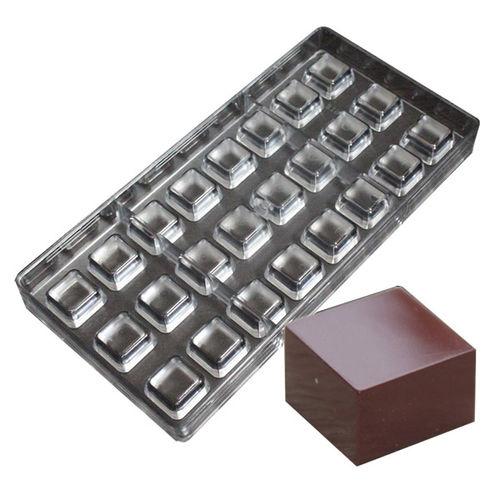 Plain square Shape Polycarbonate Chocolate Mold