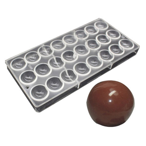 Simple Round shape Polycarbonate chocolate mold