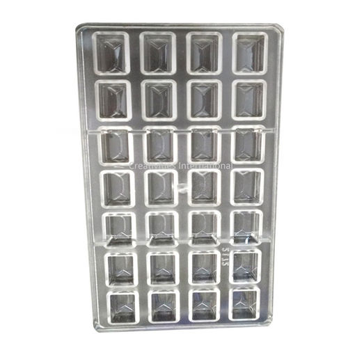 Square Rock Polycarbonate Chocolate Mold