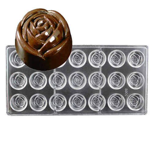 Small Rose Shape Polycarbonate chocolate mold