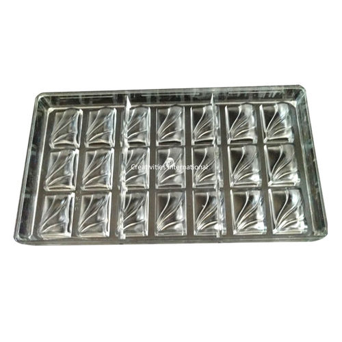 Square Rock Polycarbonate chocolate mold Type 2
