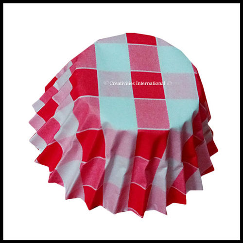 Chocolate Liners Red Checker Board_6 cm