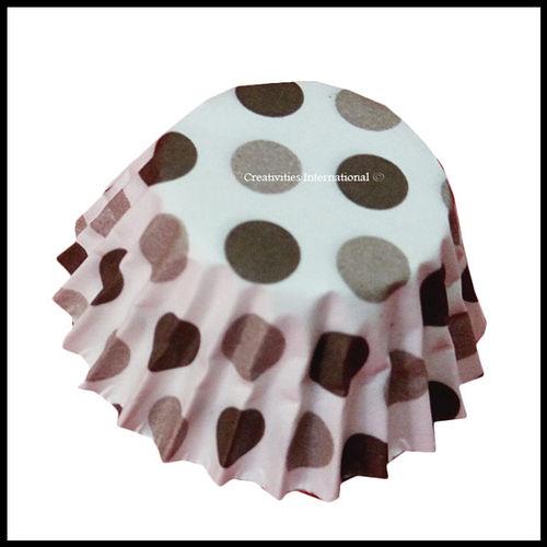 Chocolate Liners Black Polka Dots_6 cm