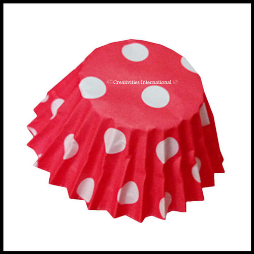Chocolate Liners Red Base Polka Dots_6 cm