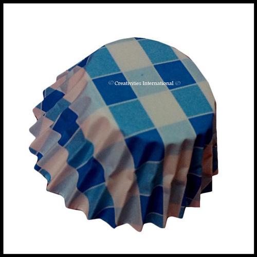 Chocolate Liners Blue Checker Board_6 cm