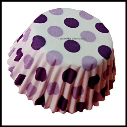 Chocolate Liners Purple Base Polka Dots_7 cm