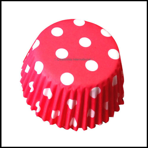 Chocolate Liners Red Base polka Dots _8 cm