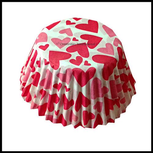 Cupcake Liners Heart Design_10 cm