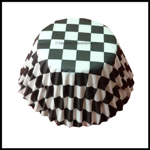 Cupcake Liners Black Checker Board _10 cm