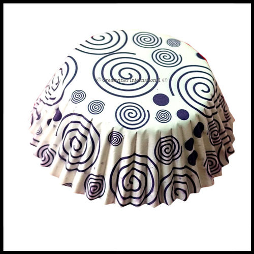 Cupcake Liners Purple Swirl Design_11 cm