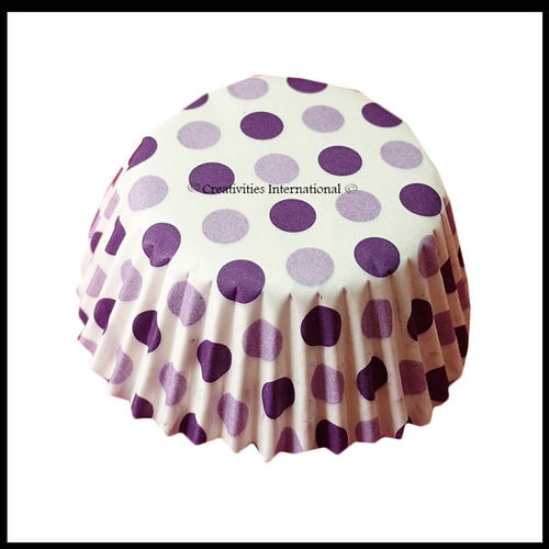 Cupcake Liners purple Base Polka Dots_12 cm